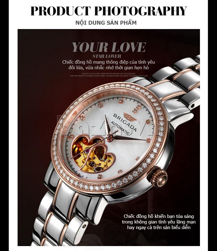 Đồng hồ nữ Brigada 6002 thiết kế lạ