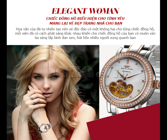 Đồng hồ nữ Brigada 6002 thiết kế tinh xảo