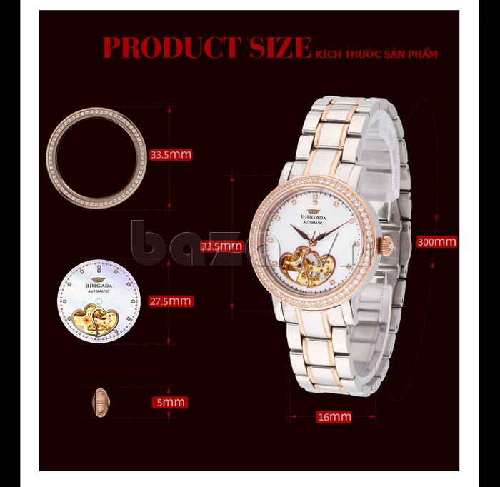 Đồng hồ nữ Brigada 6002 phong cách