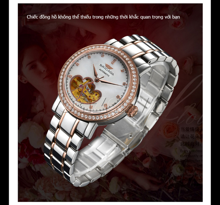 Đồng hồ nữ Brigada 6002 thiết kế hot