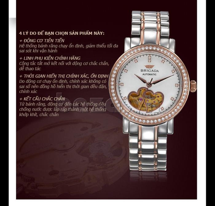 Đồng hồ nữ Brigada 6002 ấn tượng