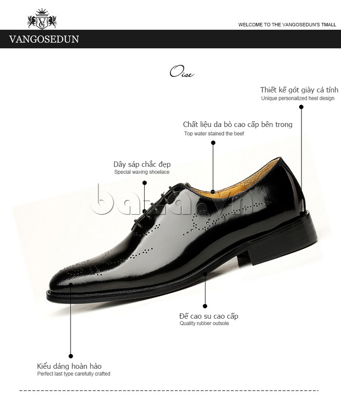 thông tin của Giày da nam VANGOSEDUN VG6010