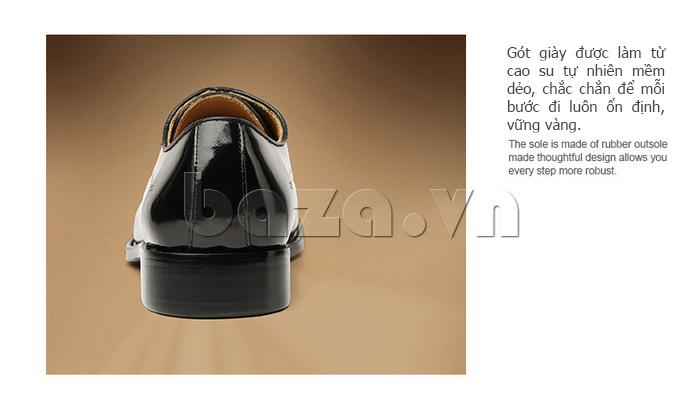 Giày da nam VANGOSEDUN VG6010 gót giày cao tôn dáng