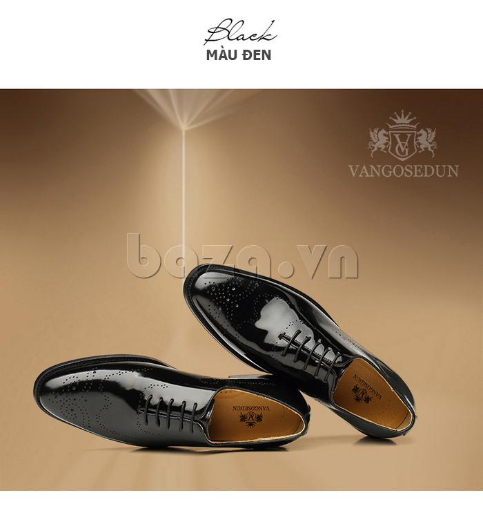 Giày da nam VANGOSEDUN VG6010 màu đen huyên bí sang trong
