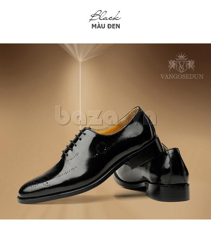 Giày da nam VANGOSEDUN VG6010 bề mặt đục lỗ thời trang