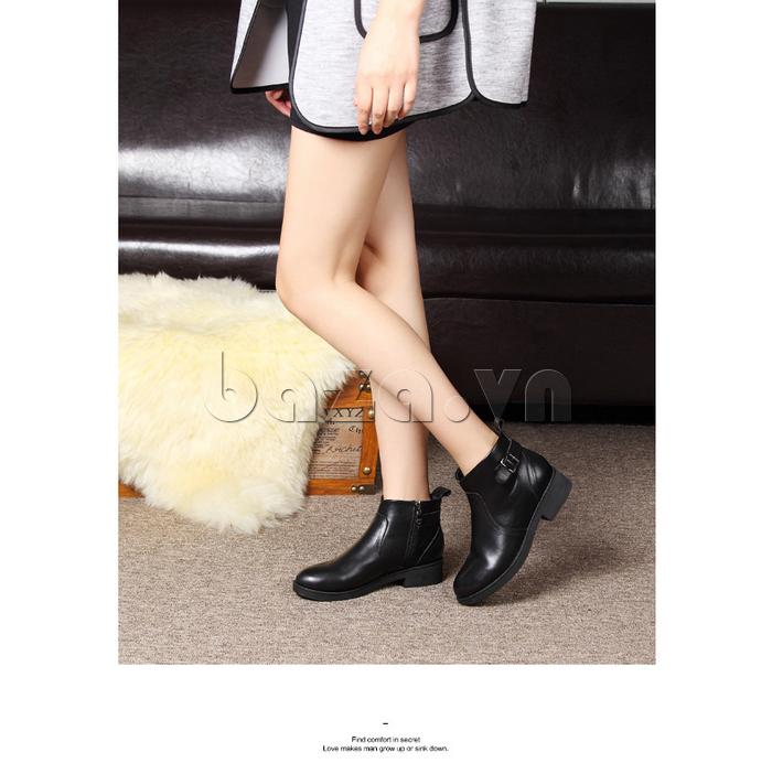 Giày Chelsea boots nữ cổthấp Acesc 1589 thoải mái khi sử dụng