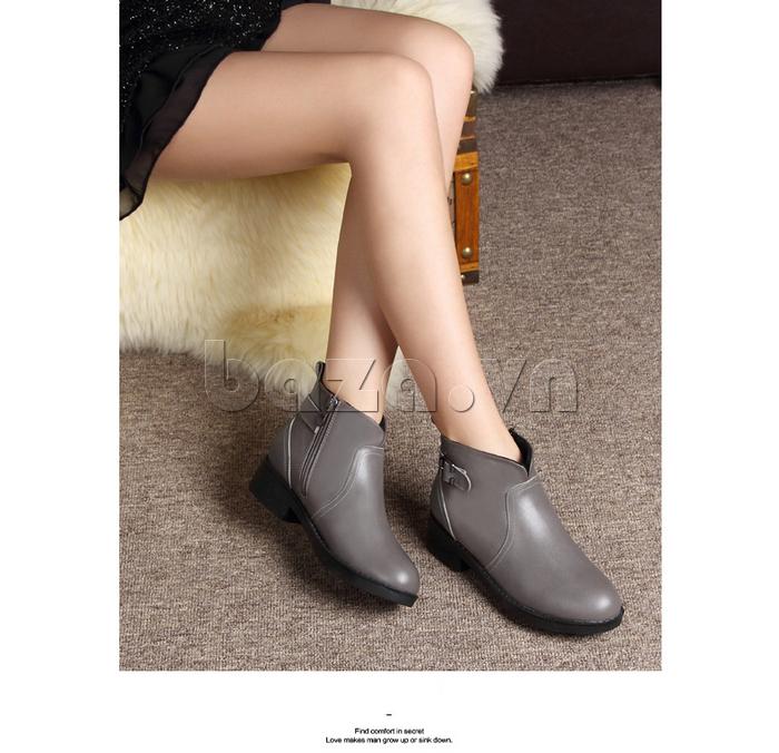 Giày Chelsea boots nữ cổthấp Acesc 1589 tôn dáng đôi chân