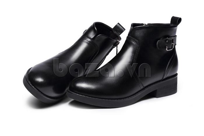 Giày Chelsea boots nữ cổthấp Acesc 1589 màu đen