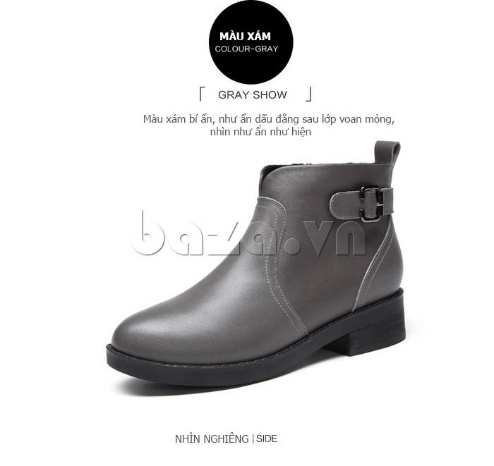 Giày Chelsea boots nữ cổthấp Acesc 1589 nhìn nghiêng