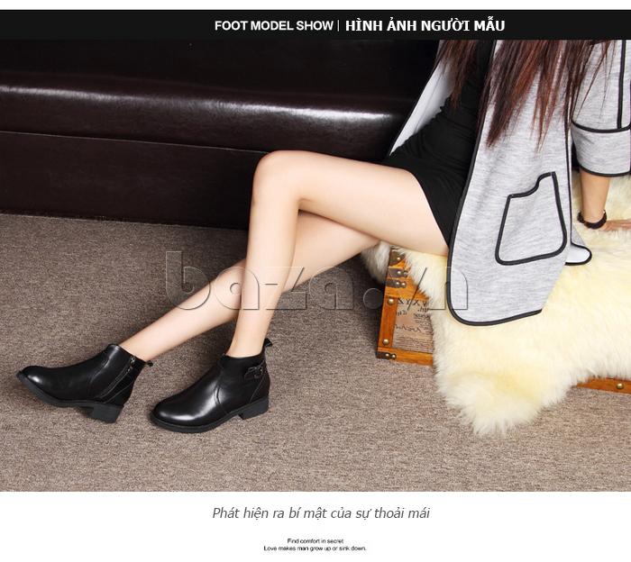 Giày Chelsea boots nữ cổthấp Acesc 1589 bí mật của sự thoải mái