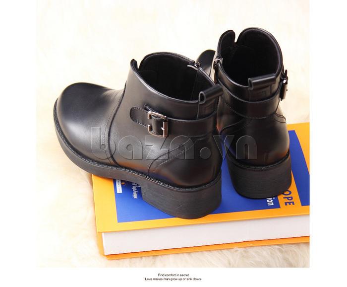 Giày Chelsea boots nữ cổthấp Acesc 1589 đậm chất cổ điển