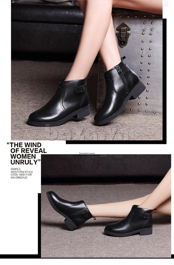 Giày Chelsea boots nữ cổthấp Acesc 1589 làm cho đôi chân thon gầy hơn