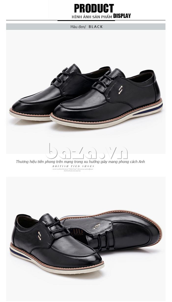 Giày da nam buộc dây phong cách Urban CDD D733