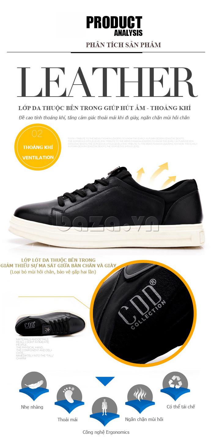 Lớp lót bên trong của Giày da nam phong cách Urban CDD D733