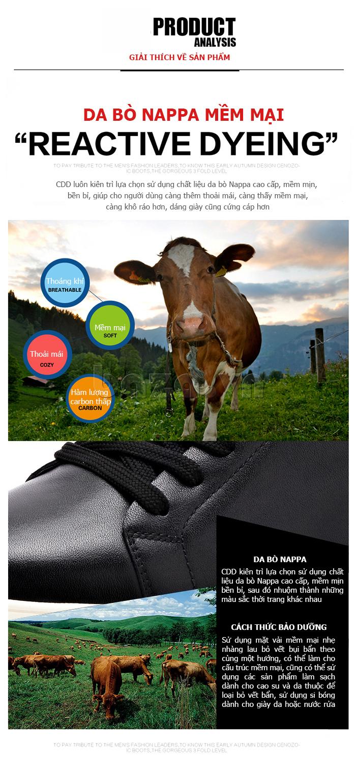 Giày nam da bò phong cách Urban CDD D733