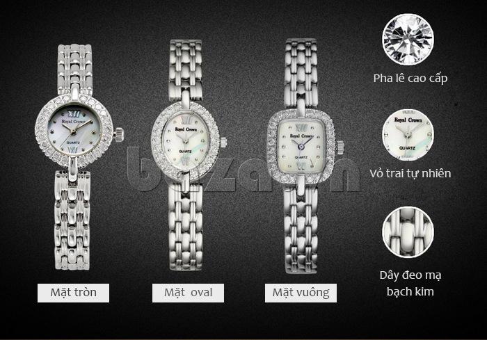 Dây đeo đồng hồ được mạ bạch kim tinh xảo