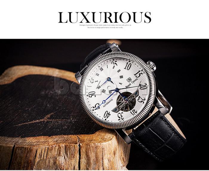 Đồng hồ cơ Royal Crown 8306 sang trọng