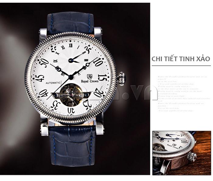 Đồng hồ cơ Royal Crown 8306 ấn tượng