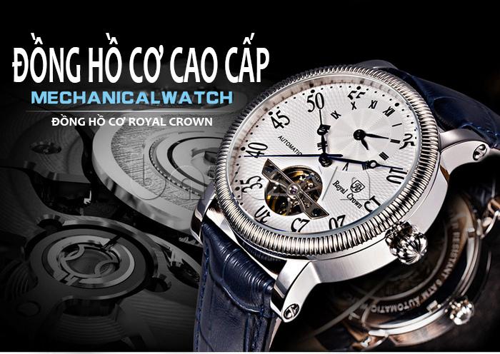 Đồng hồ cơ Royal Crown 8306 đồng hồ cơ