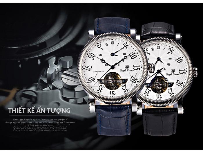 Đồng hồ cơ Royal Crown 8306 quyến rũ
