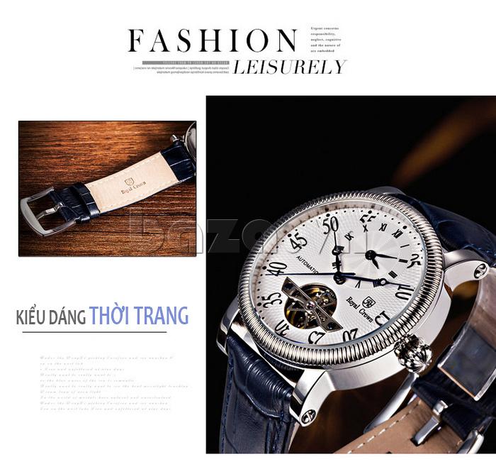 Đồng hồ cơ Royal Crown 8306 kiểu dáng thời trang