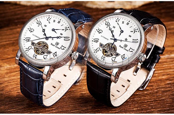 Đồng hồ cơ Royal Crown 8306 phong cách doanh nhân