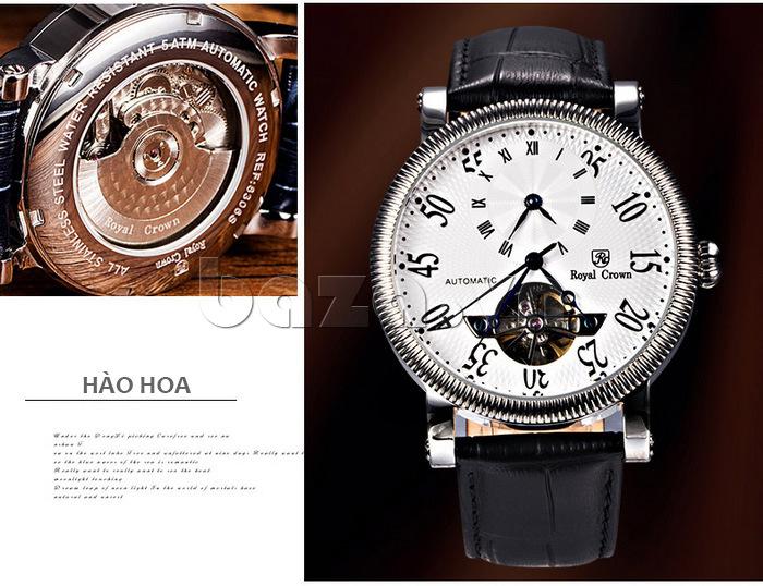 Đồng hồ cơ Royal Crown 8306 cao cấp