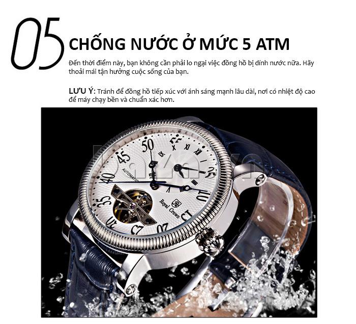 Đồng hồ cơ Royal Crown 8306 chống nước
