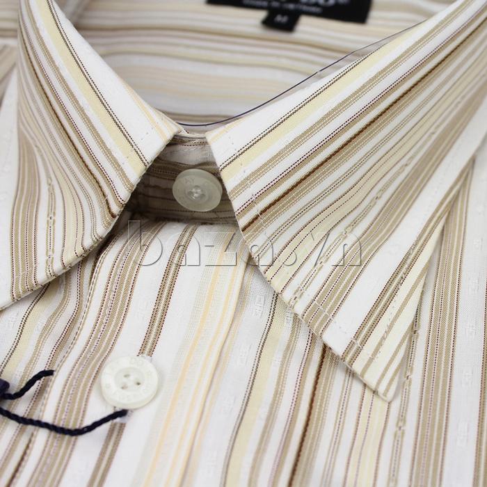 Áo sơ mi dài tay Tây Đô Chất liệu vải cotton cao cấp, mềm mại, thoáng mát