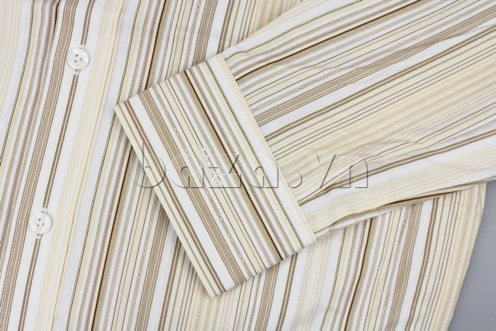 Áo sơ mi dài tay Tây Đô SL.TD/001 chất liệu cotton, kiểu dáng cổ truyền thống lịch lãm