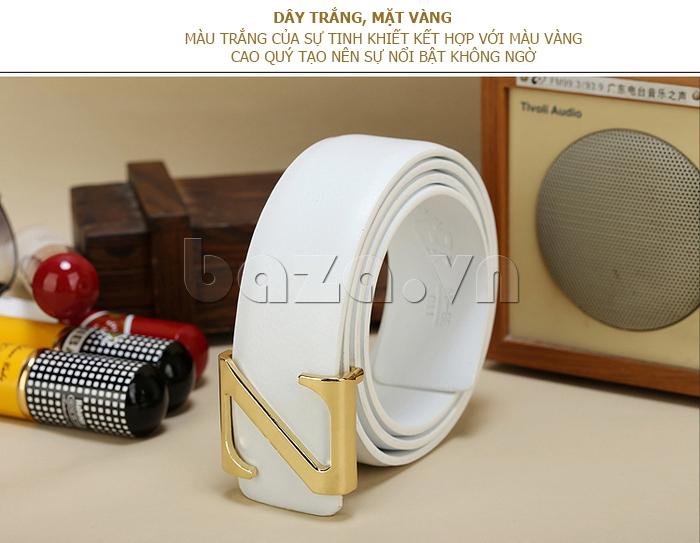 Dây lưng nam Feayoo FY-D059 dây trắng thời trang