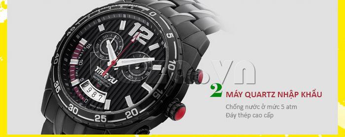 Đồng hồ nam Time2U 9318880 lắp đặt bộ máy quartz nhập khẩu