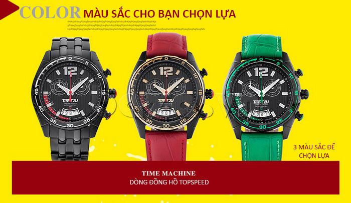 Đồng hồ nam Time2U 9318880 có 3 màu cho bạn chọn lựa