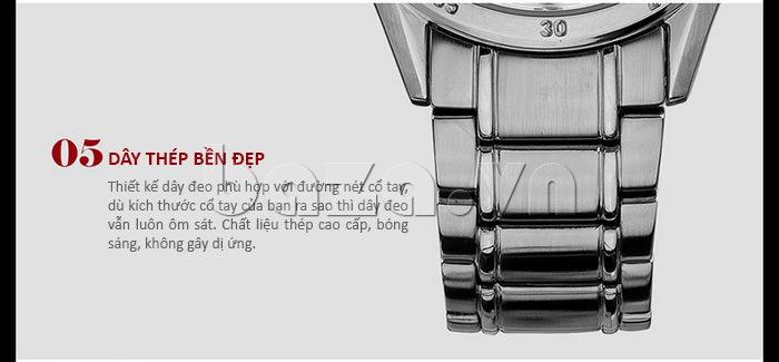 Đồng hồ nam thời trang Time2U dây thép bền đẹp