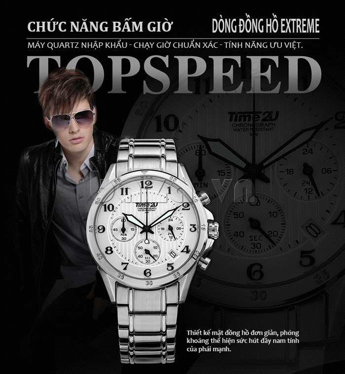Đồng hồ nam thời trang Time2U đa năng
