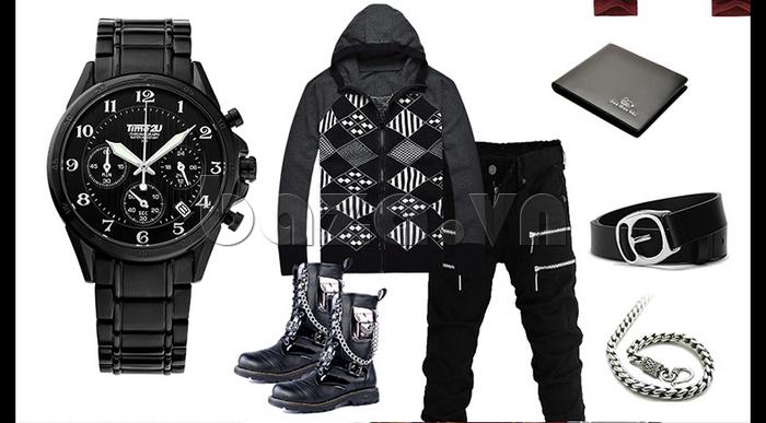Đồng hồ nam thời trang Time2U mix đồ thời trang