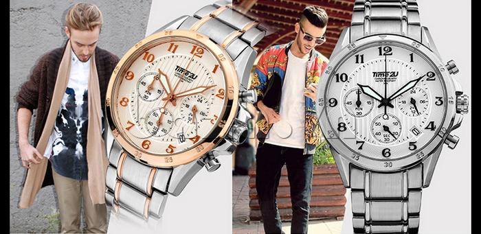 Đồng hồ nam thời trang Time2U đẳng cấp