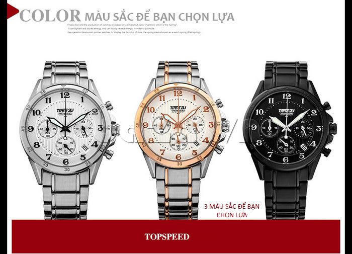 Đồng hồ nam thời trang Time2U có 3 màu để lựa chọn