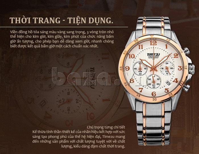 Đồng hồ nam thời trang Time2U thời trang tiện dụng