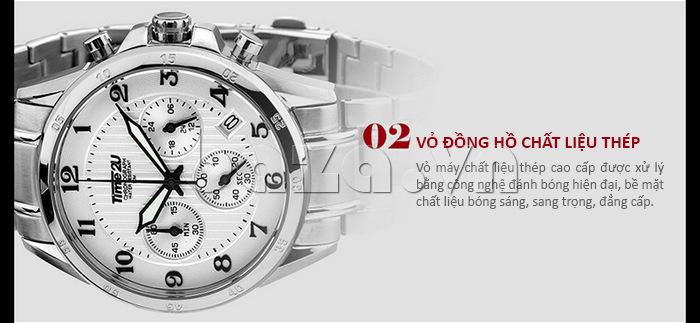 Đồng hồ nam thời trang Time2U thiết kế vỏ đồng hồ chất liệu thép