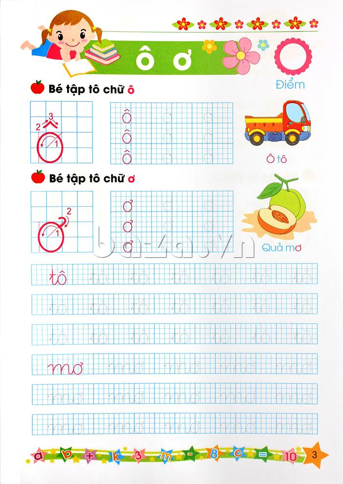 Sách học cho bé Bé tập tô và ghép vần (Dành cho trẻ mẫu giáo lớn 5-6 tuổi)