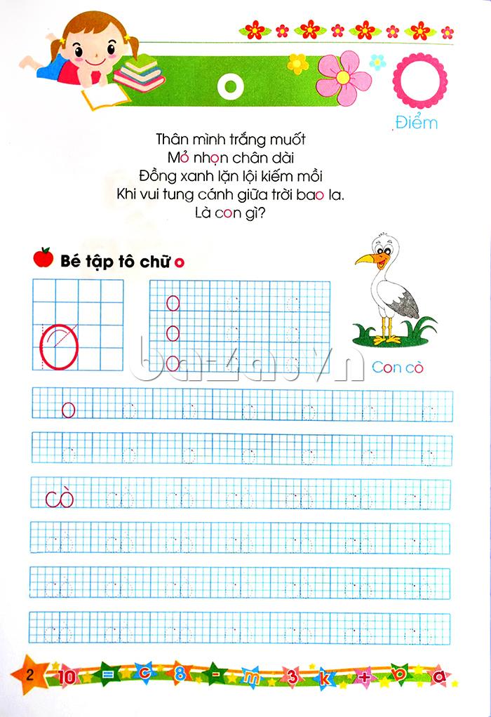 Sách học Bé tập tô và ghép vần (Dành cho trẻ mẫu giáo lớn 5-6 tuổi)