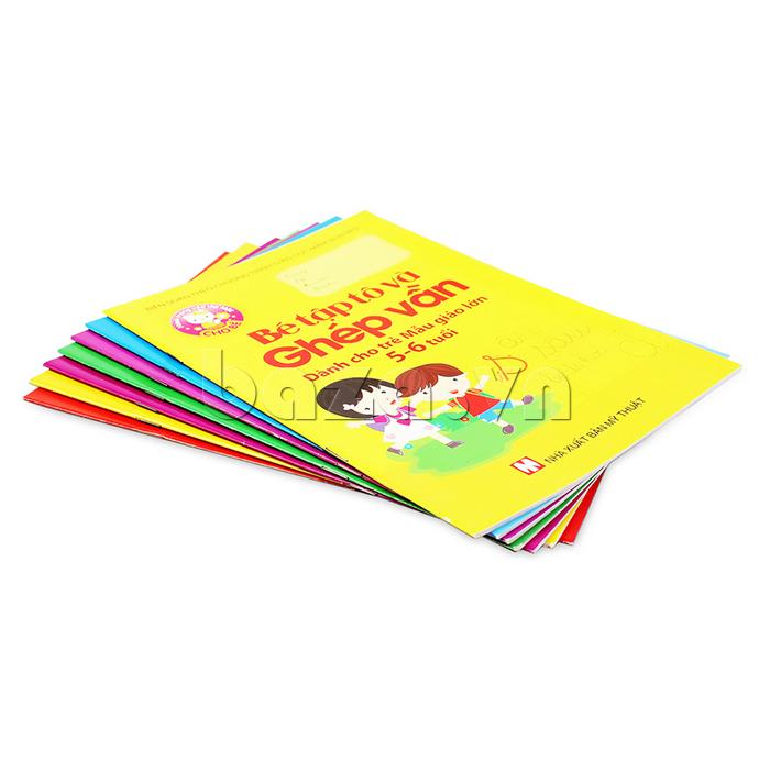 Sách thiếu nhi Bé tập tô và ghép vần (Dành cho trẻ mẫu giáo lớn 5-6 tuổi)