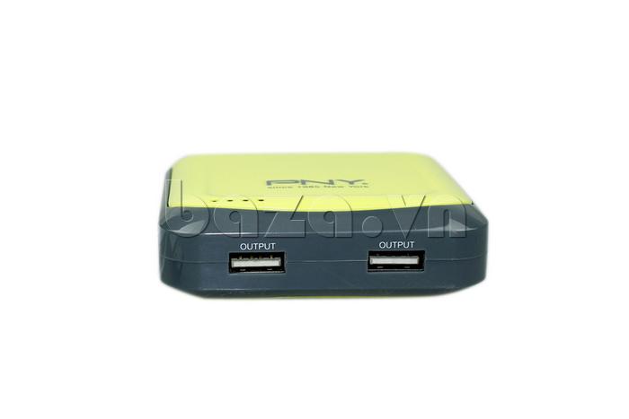 Pin dự phòng PNY 52S 5.200mAh có hai dạng ổ cắm tiện lợi