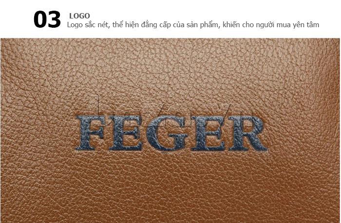 Túi xách nam thương gia Feger 951-2 - logo sắc nét