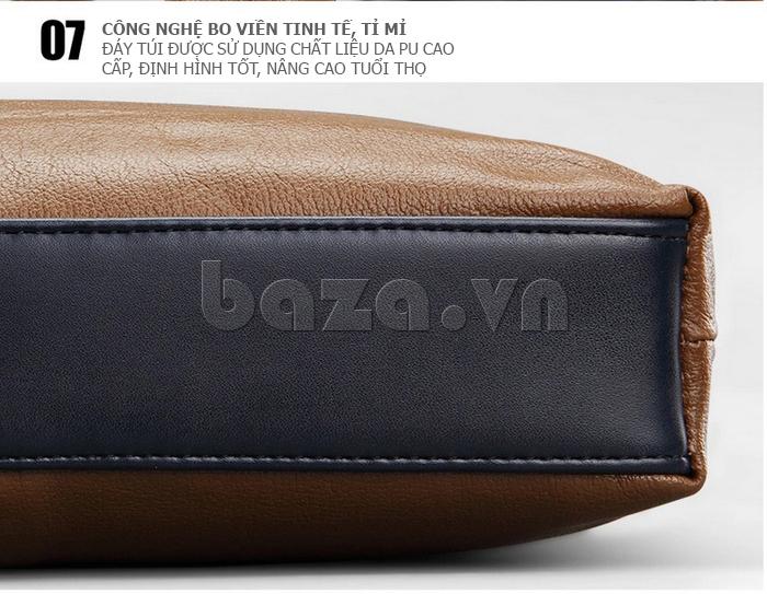 Túi xách nam thương gia Feger 951-2 - công nghệ bo viên tinh tế