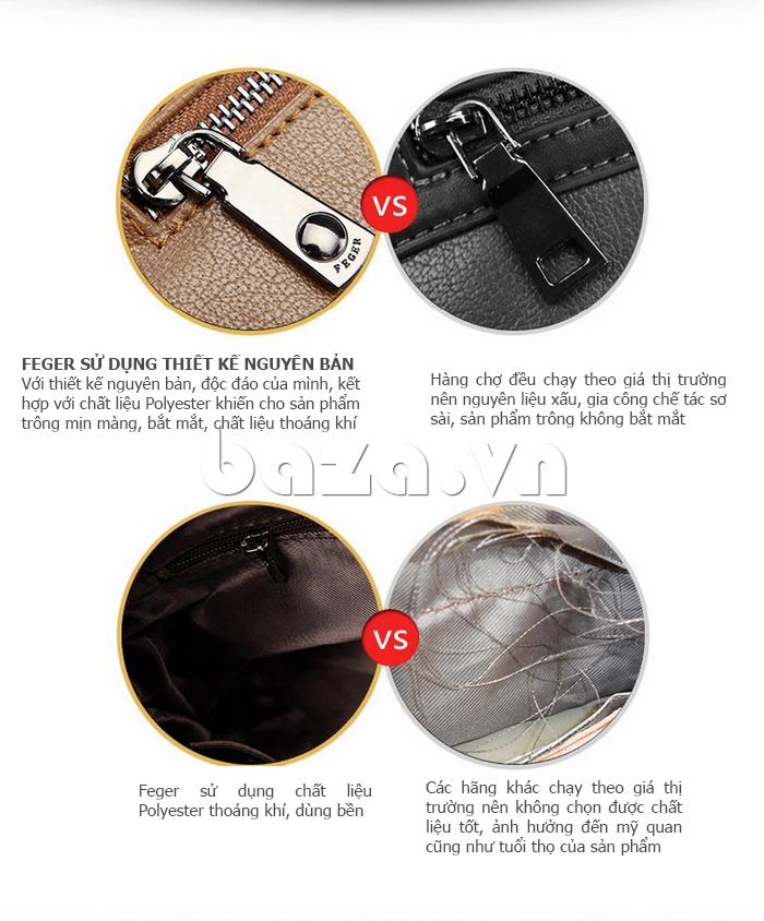 Túi xách nam thương gia Feger 951-2 - hoàn hảo tới từng chi tiết
