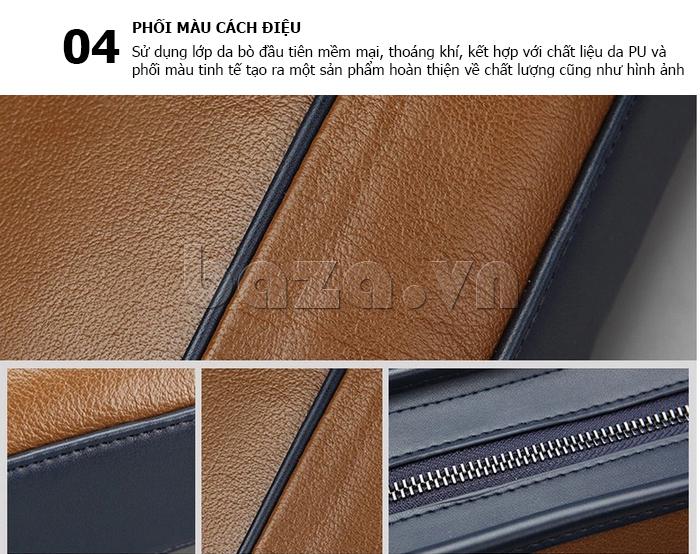 Túi xách nam thương gia Feger 951-2 - phối màu cách điệu