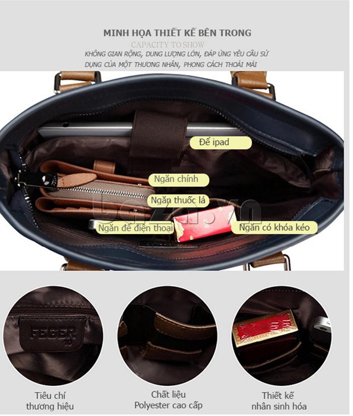 Túi xách nam thương gia Feger 951-2 - thiết kế đa dụng