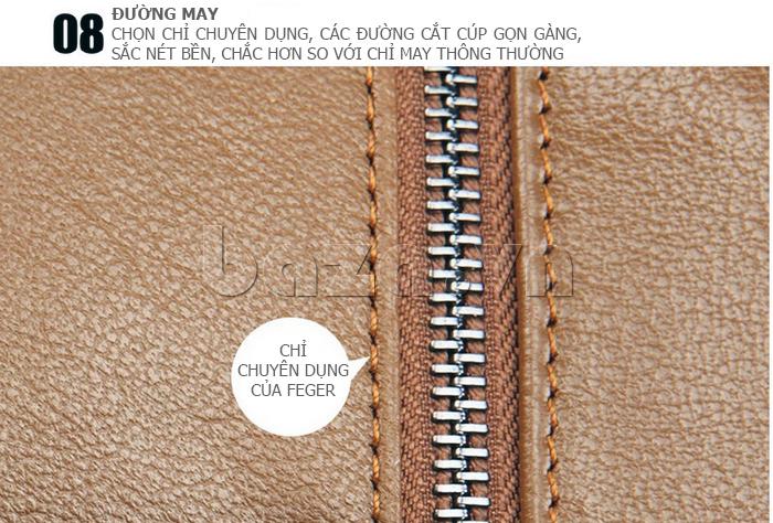 Túi xách nam thương gia Feger 951-2 - đường may chắc chắn
